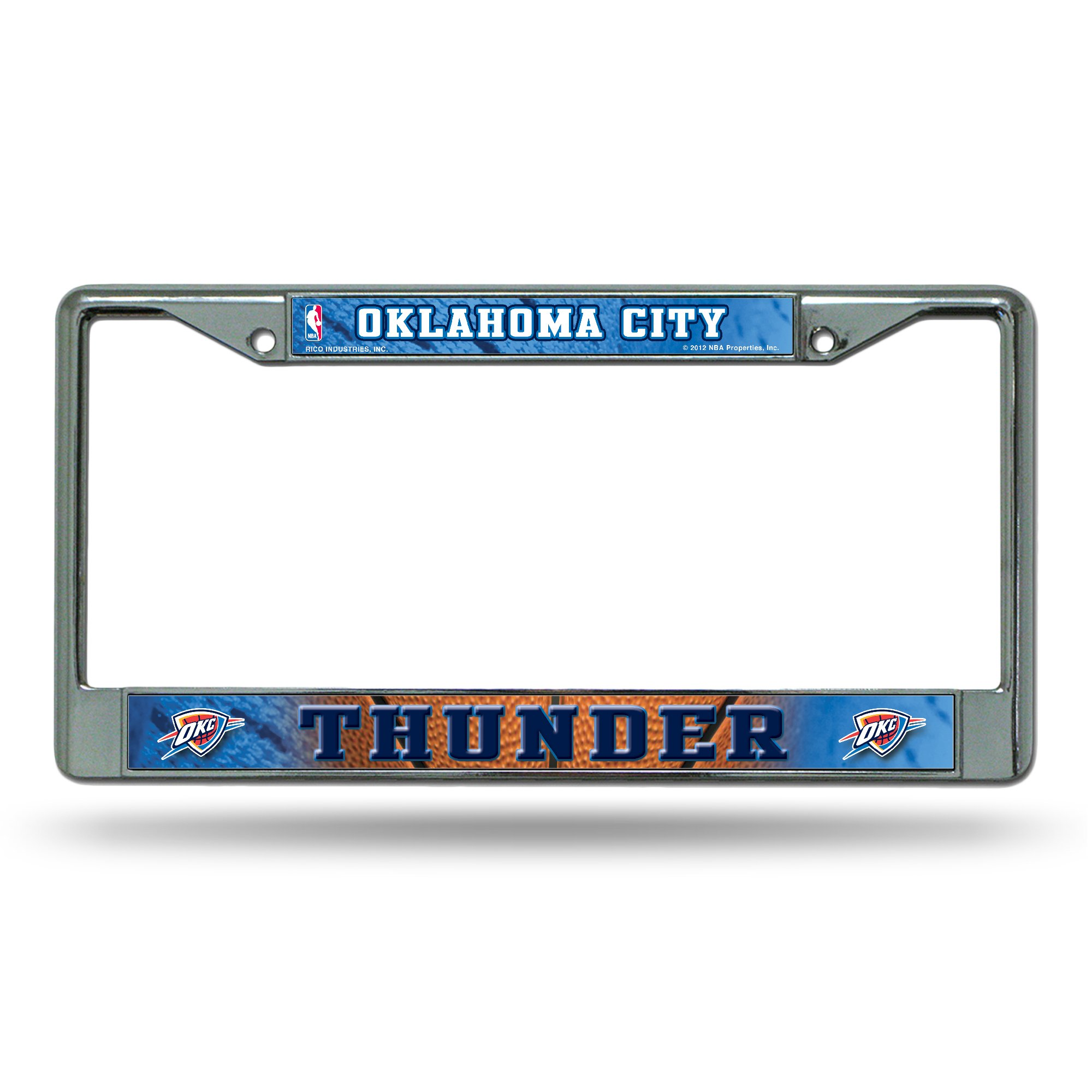 Rico Oklahoma City Thunder NBA Chrome Metal License Plate Frame