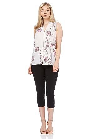 df55f08606b348 Roman Originals Women's Summer Pleat Front Top Vest Ladies White Pink - 20