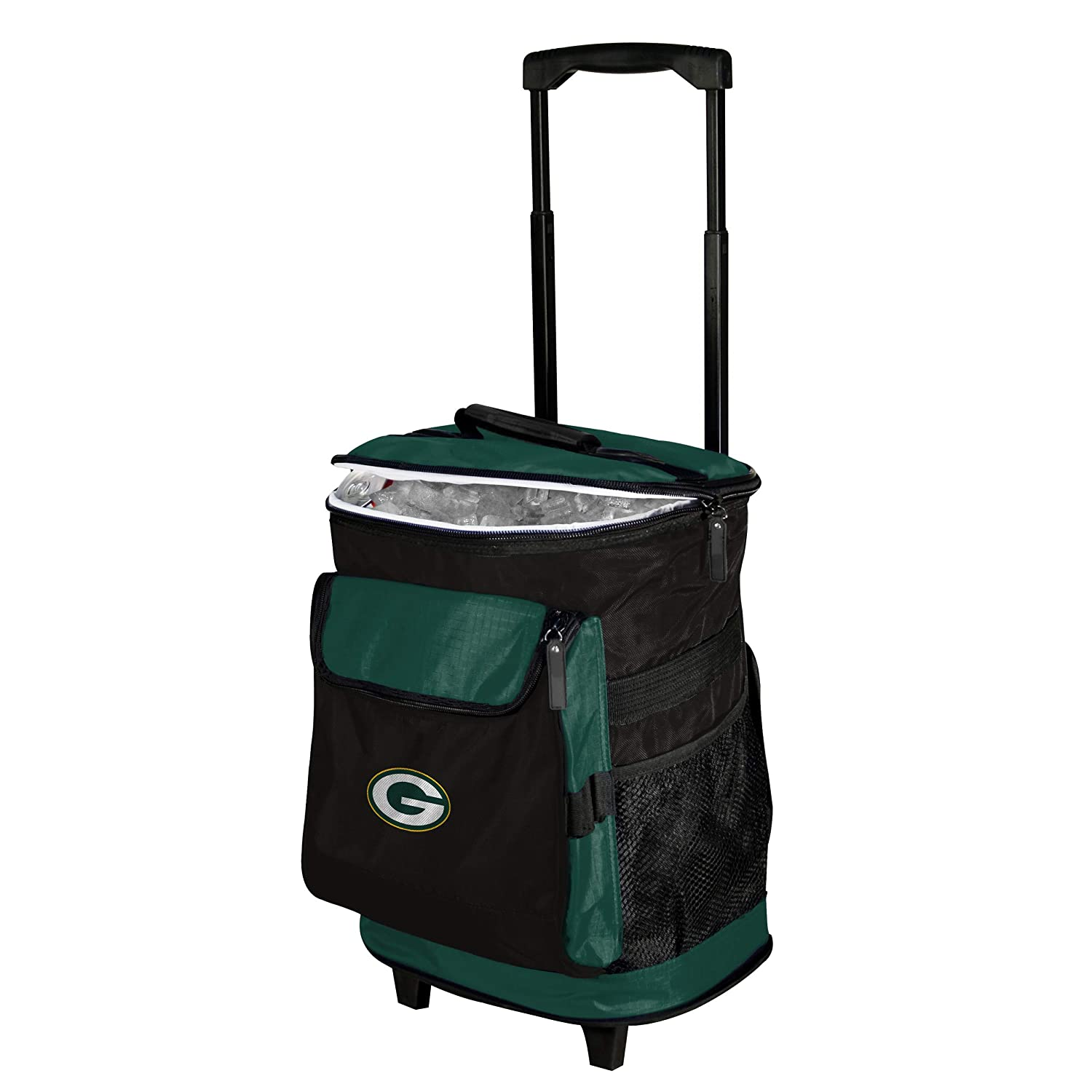 NFL 48 Can Rolling Cooler with Wheels and Backpack Straps
