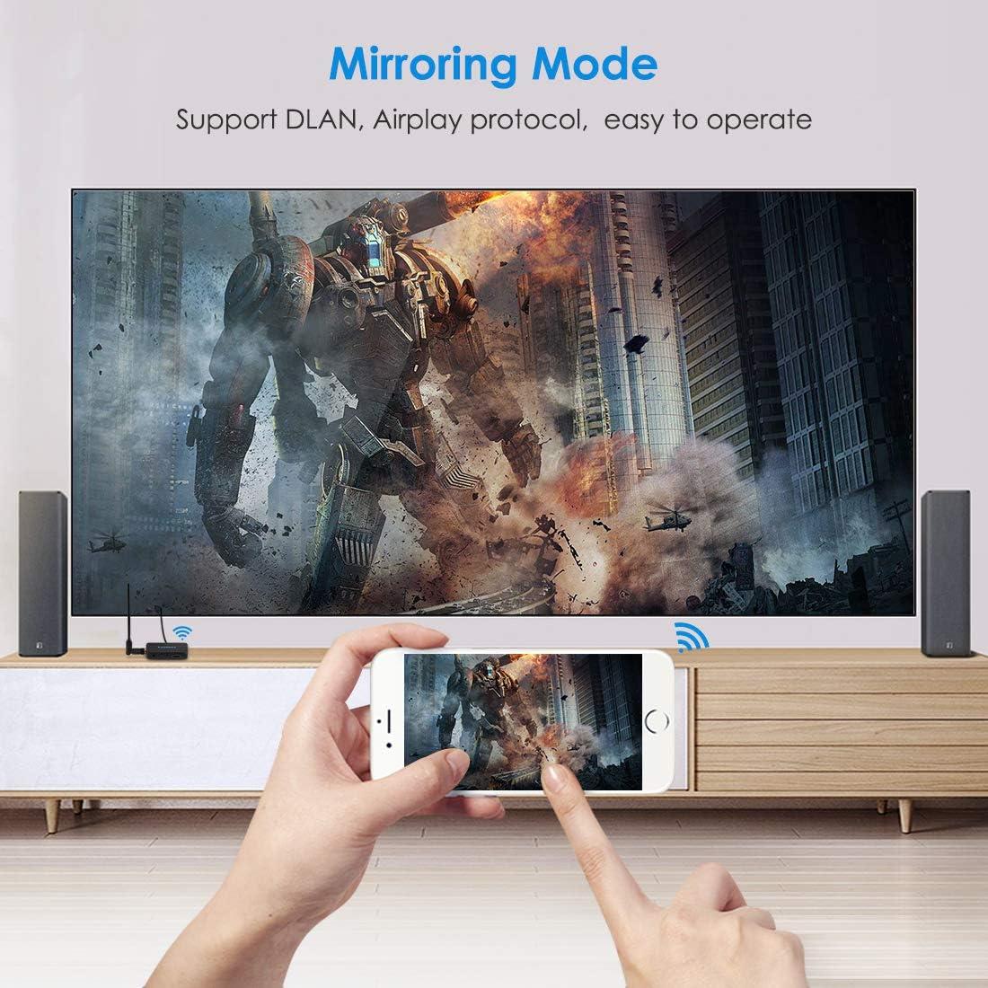 Leelbox Chromecast, WiFi Display Dongle, Adaptador de Receptor 4K 1080P HDMI Dongle Inalambrico con Pantalla WiFi 2.4G Miracast DLNA Airplay para iOS/Android/Mac/iPhone/Tableta: Amazon.es: Electrónica