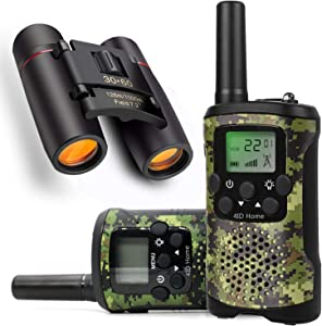 Kids walkie talkies Binoculars Toys - Kids' Binocular 2 Way radios walkie Talkie 3 Miles Long Range walky Talky Children Outdoor Toys Best Gifts for Boys and Girls (camo)