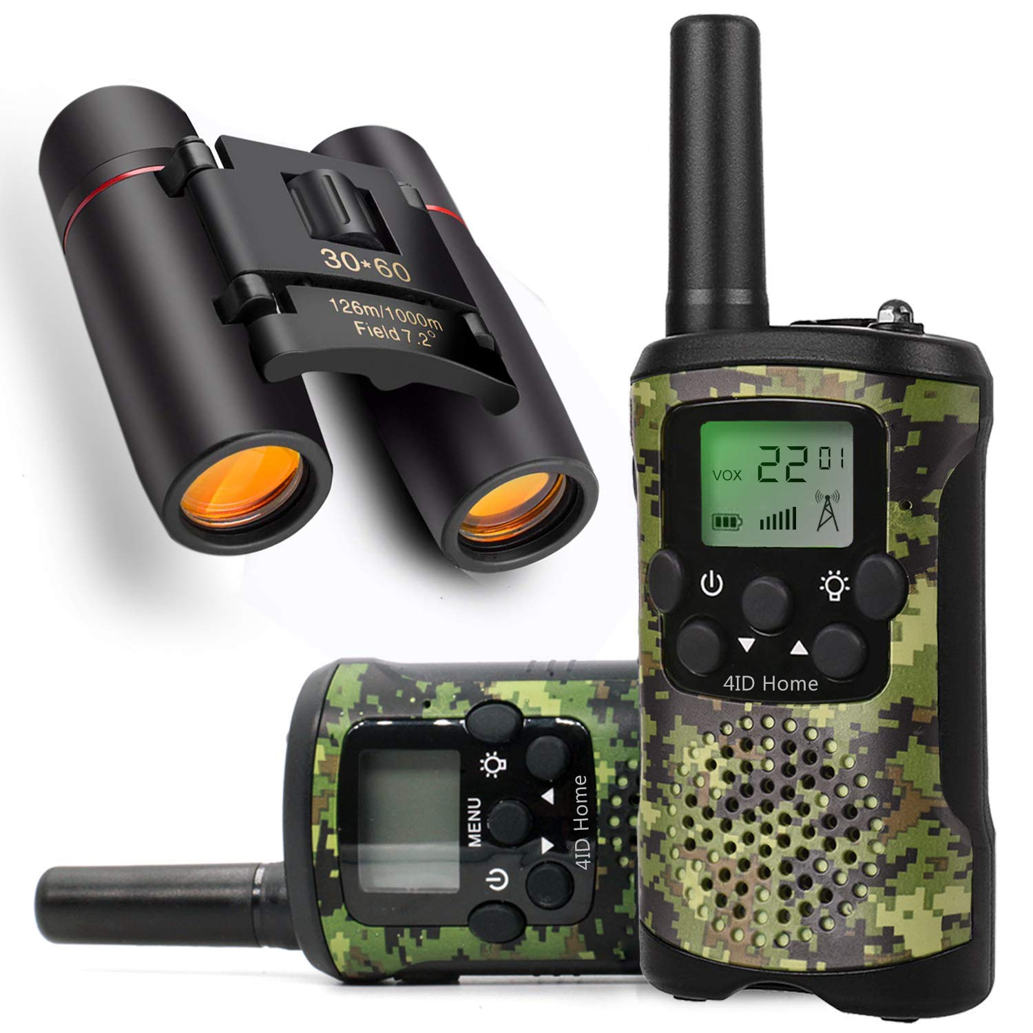Ideahome Kids walkie talkies Binoculars Toys - Kids' Binocular 2 Way radios walkie Talkie 3 Miles Long Range walky Talky Children Outdoor Toys Best Gifts for Boys and Girls (camo) by Ideahome (Image #1)