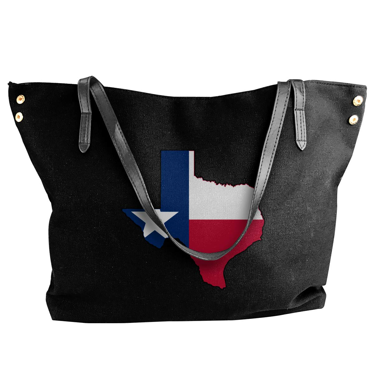 Womens Canvas Large Tote Shoulder Handbag Texas Flag Outline Clipart Large Capacity Bags