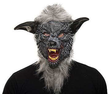 Balinco Hombre Lobo Horror Máscara Halloween máscara Wolf Completo Máscara de Carnaval para Hombre Lobo Máscara