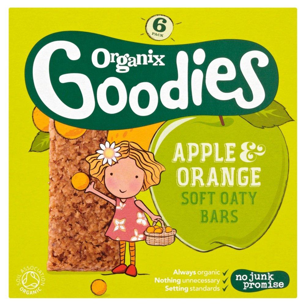 Organix Organic Apple & Orange Cereal Bar 6x30g (Pack of 6) ORGANIX (VEGETARIAN)