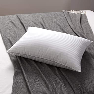 L LOVSOUL White Goose Down and Feather Bed Pillows - Three Chambers Design,1000TC 100% Egyptian Cotton Cover Standard/Queen Size,Soft Pillow (1 Pillow)