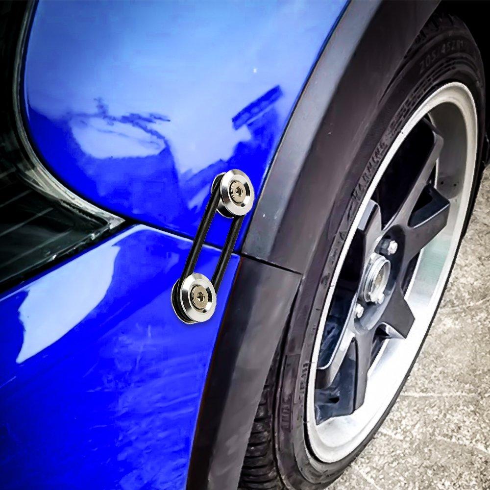 JDM Kit di fissaggio a sgancio rapido paraurti anteriore per paraurti posteriore Coperchio di chiusura bagagliaio Nero
