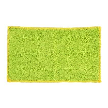 sourcing map Paño de tela de toalla de limpieza para plato de micro fibra inicio mesa