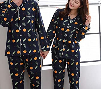 SED Pajamas - spring and autumn cotton long-sleeved trousers couples home  service pajamas set fa9f93aa0
