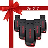 Sandisk Cruzer Blade CZ50 USB 2.0 Pendrive (16 GB) - Pack of 5