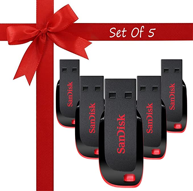 Sandisk Cruzer Blade CZ50 USB 2.0 Pendrive  16  GB    Pack of 5 Pen Drives