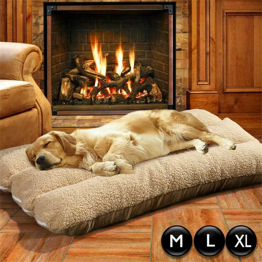 Malayas Cama para Perros Grandes 100 x 65 x 17cm Colchoneta Cómoda para Mascotas Cama Suave con Cojín Desmontable para Perros Gatos