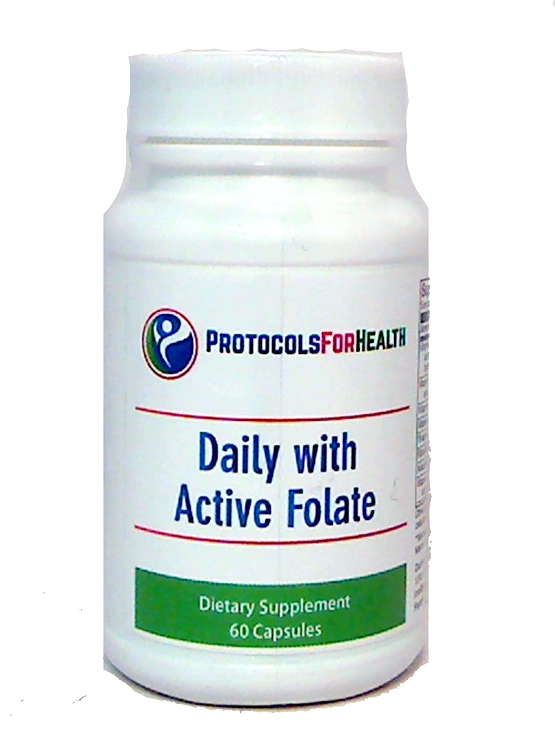 Daily with Active Folate | 60 Capsules | Comprehensive Hypoallergenic Once-Daily Vitamin Supplement with Active Folate (L-5-methyltetrahydrofolate)