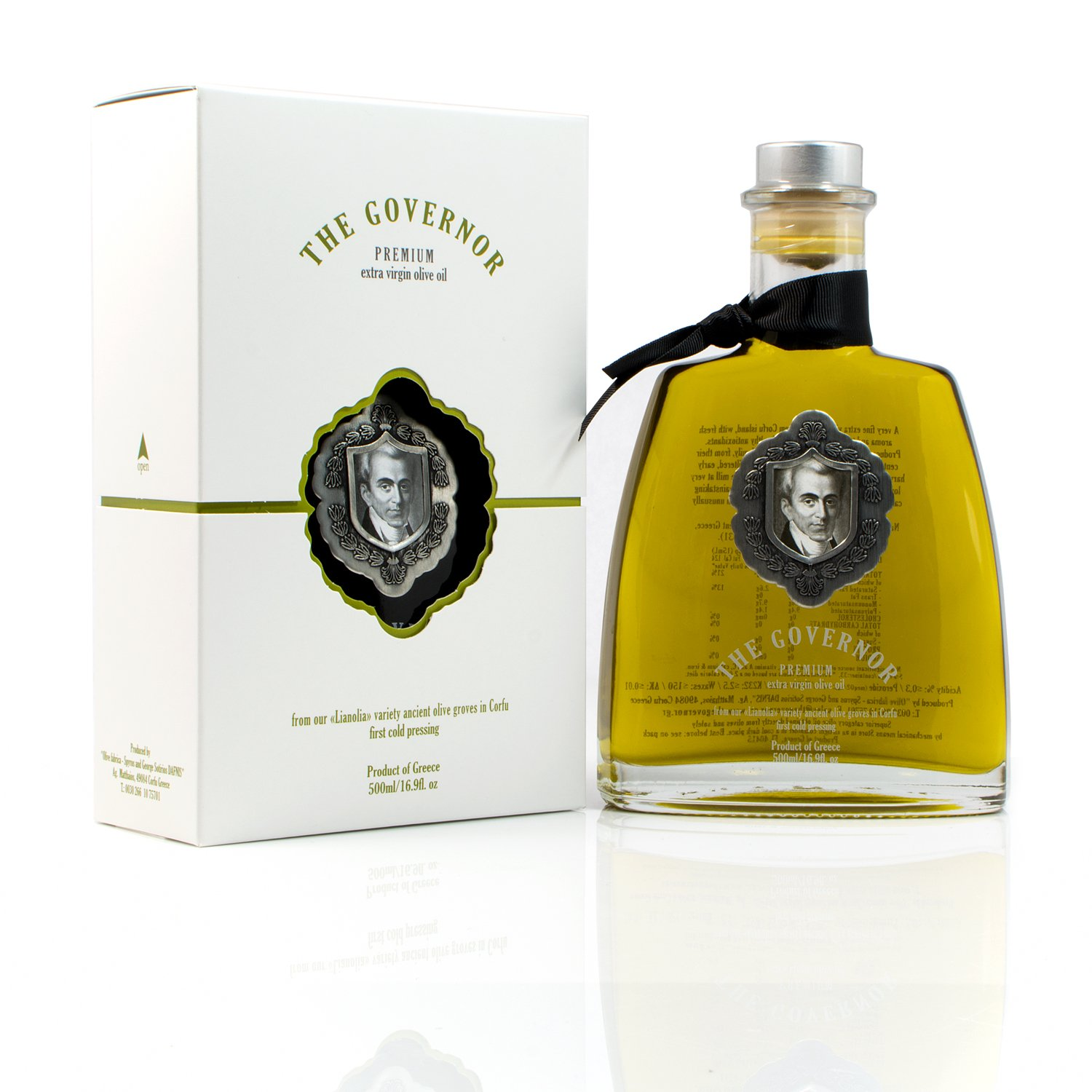 The Governor, Premium Unfiltered Extra Virgin Olive Oil | Olive Oil Polyphenols with Robust Health-Giving Properties | Cold-Pressed Olive Oil | Luxury Glass Bottle 500ml by The Governor (Image #1)