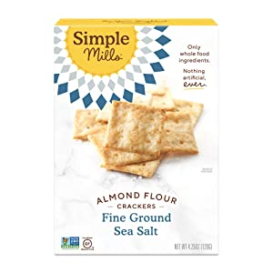 Simple Mills Almond Flour Crackers, Fine Ground Sea Salt,