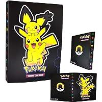 Binder for Pokemon Cards- 4 Pocket Trading Card Album Folder - 120 Card Slot, can Hold 240 Cards - New Pikachu