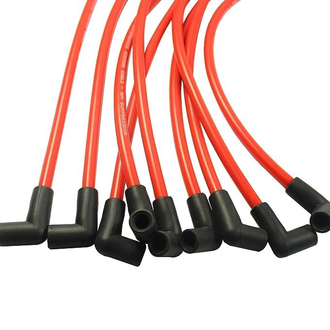 jdmspeed nueva 10,5 mm de alto rendimiento Cable de Bujía Set Hei SBC BBC 350 383 454 electrónico: Amazon.es: Coche y moto