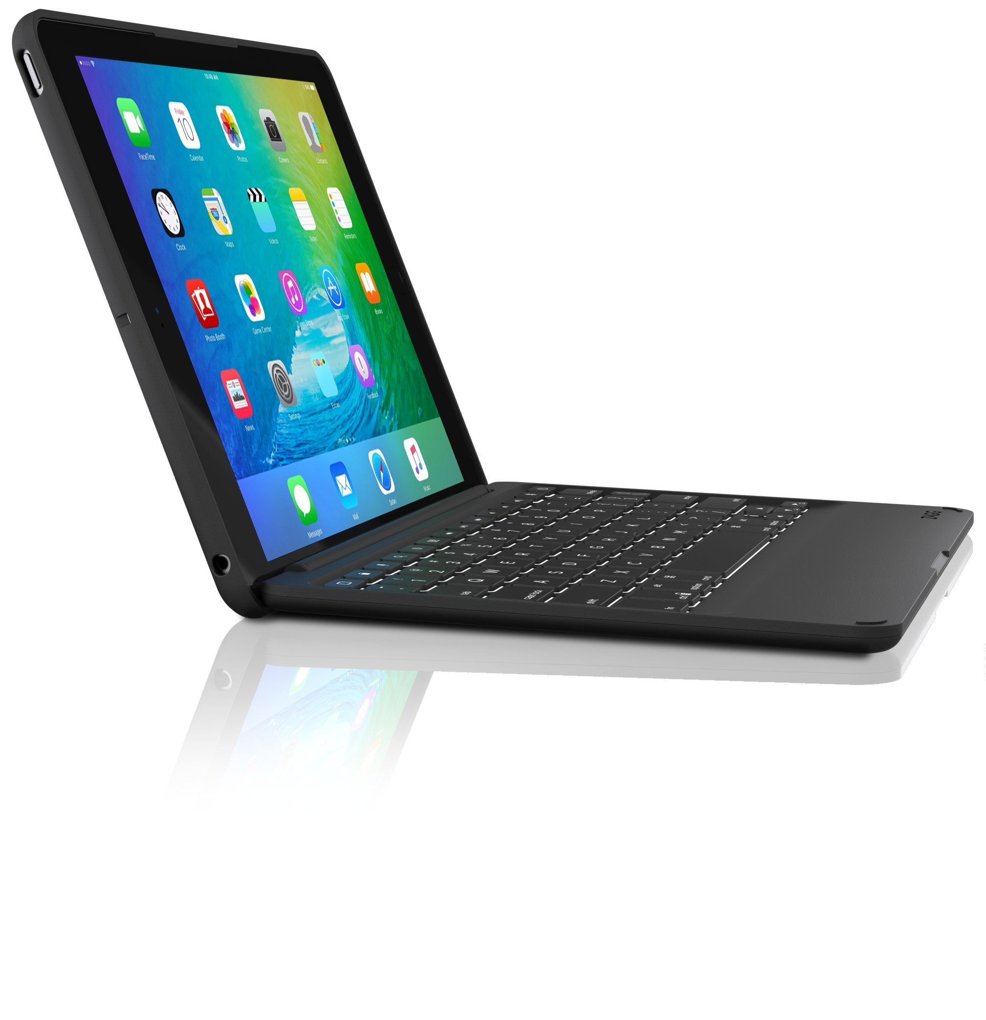 ZAGG Folio Case with Wireless Backlit Keyboard for 2017 [Gen 5] and 2018 [Gen 6] Apple iPad 9.7'' - Black