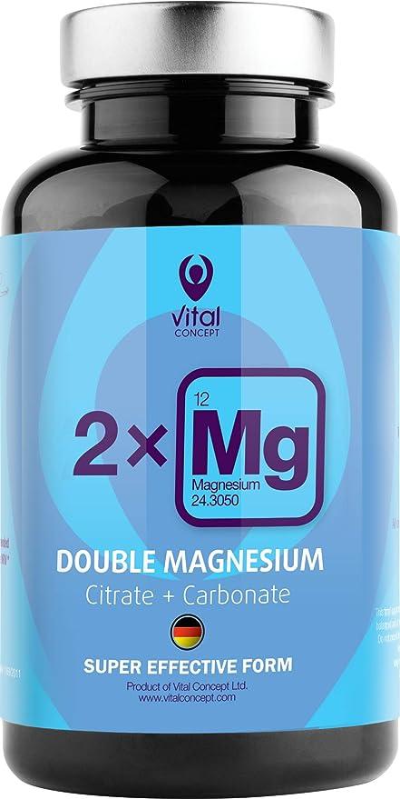 DOUBLE MAGNESIUM - Dosis de 250 mg de magnesio de alta calidad ...