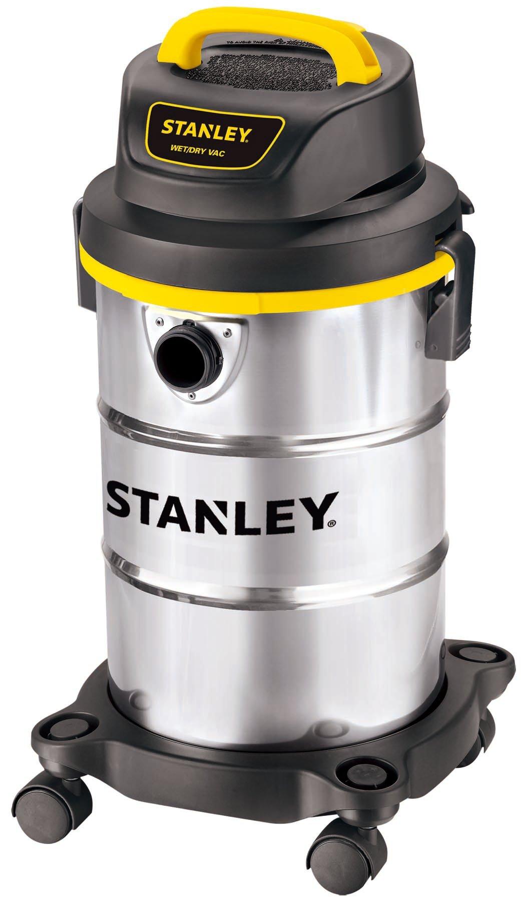 Stanley Wet/Dry Vacuum, 5 Gallon, 4 Horsepower, Stainless Steel Tank