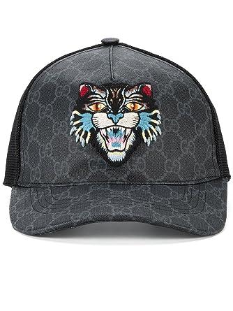 Gucci Homme 4268874HB981060 Noir Coton Chapeau  Amazon.fr  Vêtements ... ad1c6d3ec31