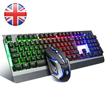 a831148a36b Image Unavailable. Image not available for. Colour: SADES gaming keyboard  and mouse combo ...