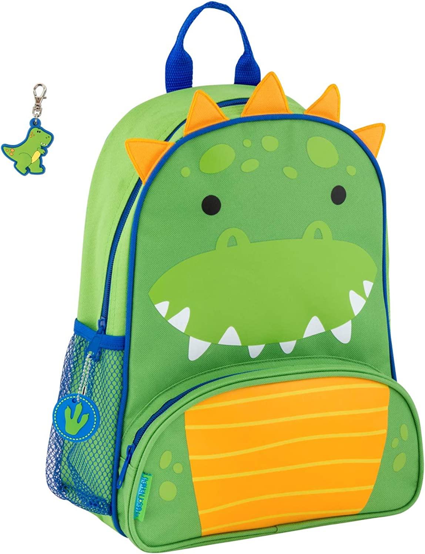 Stephen Joseph Boys Sidekick Dinosaur Backpack with Zipper Pull