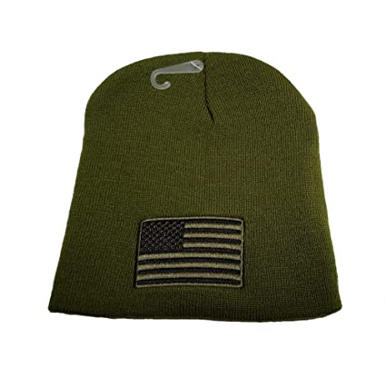 Amazon.com  Pin And Patch Man Olive Green Tactical Beanie (Subdue Flag) USA  Flag Embroidered Winter Beanie Skull Cap Hat WCAP001  Sports   Outdoors f9efa00665f