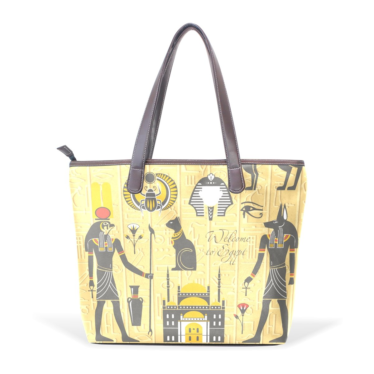 Egyptian Decor Womens Fashion Large Tote Shoulder Bag Ladies Handbag