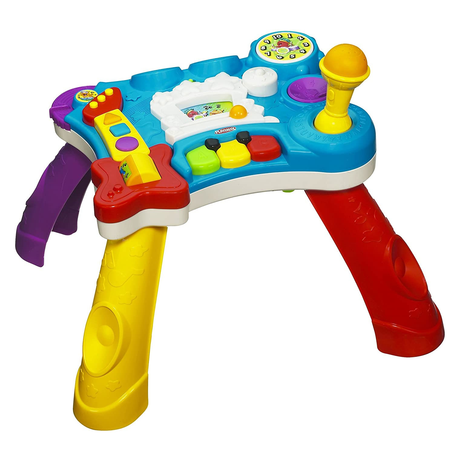 Amazon.com: Playskool Rocktivity Sit To Stand Music Skool Toy: Toys U0026 Games