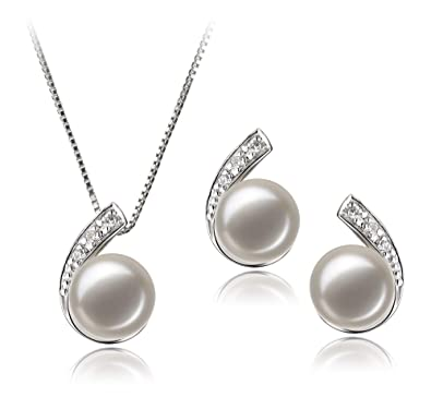 44c41401b Image Unavailable. Image not available for. Color: Claudia White 7-8mm AA  Quality Freshwater 925 Sterling Silver Cultured Pearl ...