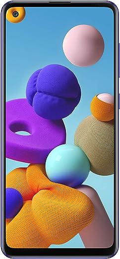 هاتف سامسونج جالكسي ايه 21 اس - 128 جيجا، رام 4 جيجا، الجيل الرابع ال تي اي، لون ازرق