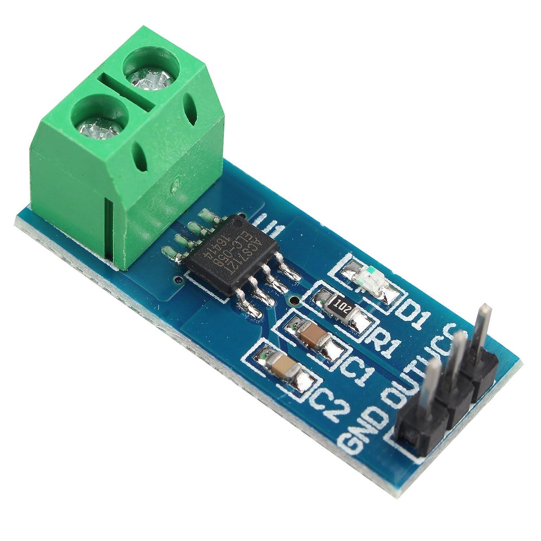 HALJIA ACS712 ACS712ELC-05B 5A Range Current Sensor Module Board Compatible with Arduino