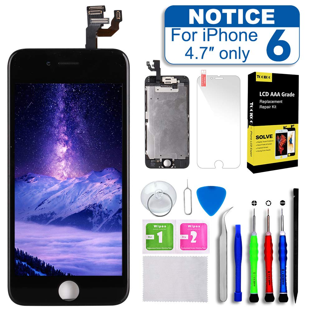 Amazon.com: Screen Replacement for iPhone 6 4.7inch,Tokmali LCD Display  Touch Screen Digitizer Frame Full Assembly,Complete 9 Pcs Repair Tools Kit  and Free ...