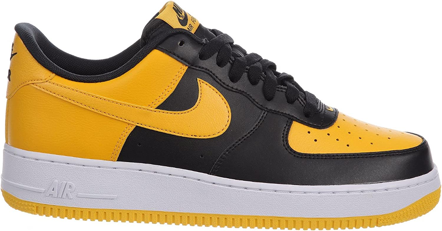 Amazon Com Nike Men S Air Force 1 Low Black University Gold