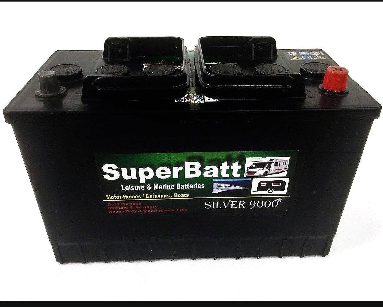 12V 115AH SuperBatt LM115L Deep Cycle Leisure Battery Motorhome Caravan Boat Royal Battery