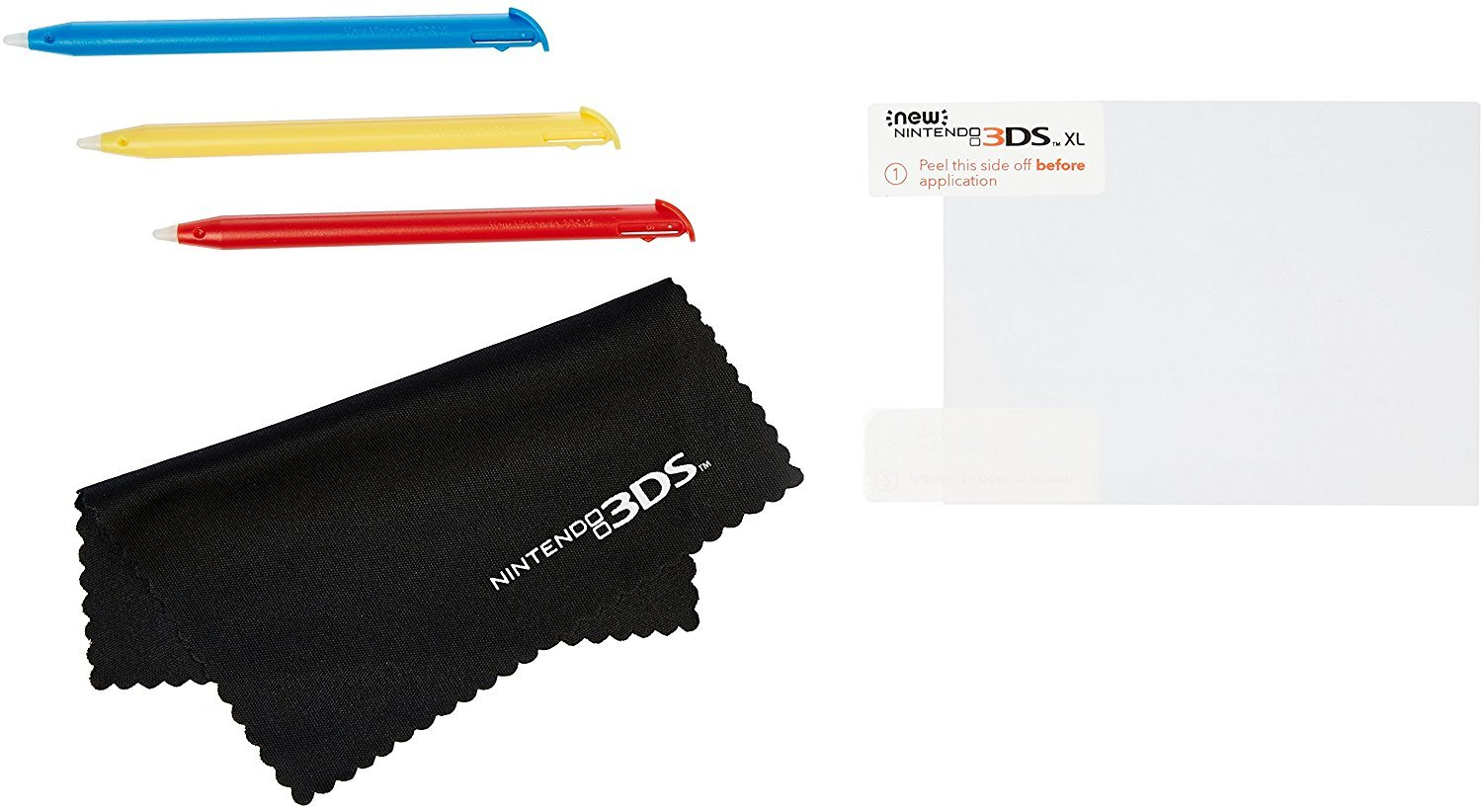 AmazonBasics Screen Protection and Stylus Kit for New Version Nintendo 3DS XL (Officially Licensed) by AmazonBasics (Image #1)