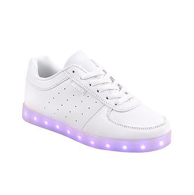 Raffie\'s: trendige weiße LED-Sneakers in Größe 38 mit 7 ...
