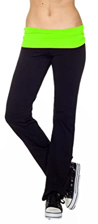 Amazon.com: CordiU Contrast Band Yoga Pants: Clothing