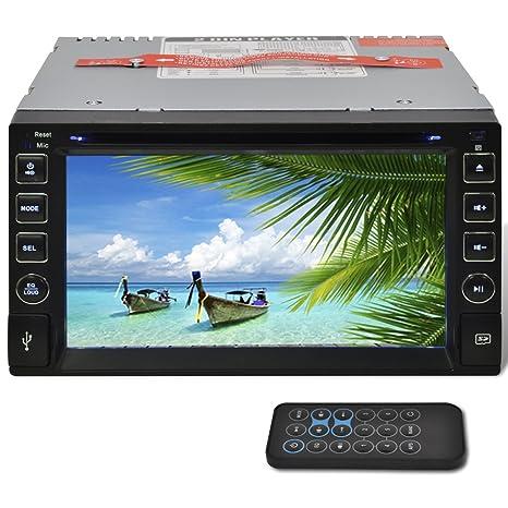 Estéreo del coche SD 2 DIN DVD 6,2 pulgadas Radio FM de alta definición con pantalla táctil Bluetooth USB