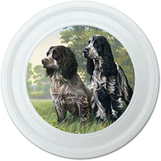 graphique et plus Paire de chiens épagneul cocker anglais fantaisie 22,9 cm Flying Disc 9 cm Flying Disc Graphics and More