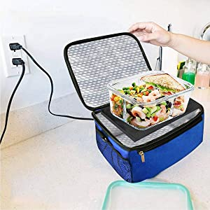 Acutelien Portable Oven Office Food Warmer Portable 110V Personal Mini Lunch Box Using for Meals Reheating & Raw Food Cooking for Office, Travel, Potlucks, and Home Kitchen