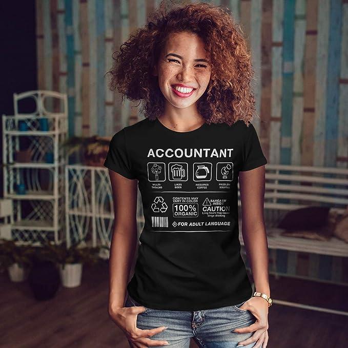 wellcoda Accountant Multitasking Womens T-Shirt, Job Casual Design ...