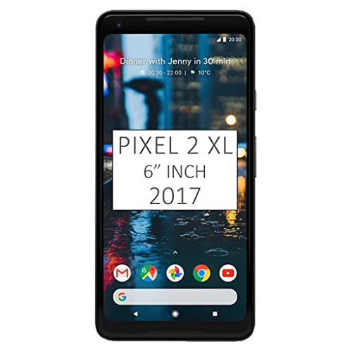 """Pixel 2 XL Phone (2017) by Google, 64GB G011C, 6"""" inch Factory Unlocked Android 4G/LTE Smartphone (Just Black)"""