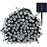 Yasolote Solar Garden Lights, Waterproof Fairy Lights, 72ft 20m 200 LED 8 Twinkling Modes, Decorative Outdoor Lighting String Lights for Home, Gazebo, Patio, Lawn, Yard, Fence, Wedding, Party, Holiday, Festival Ornament (White, 1 Pack)