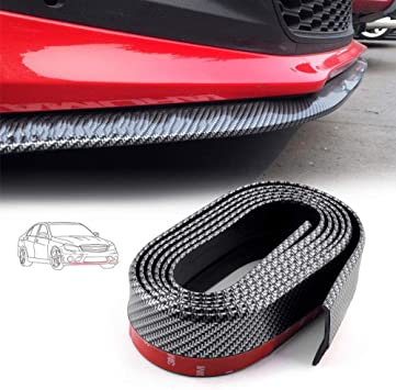 2.5m Body Kit//Bumper Lip//Side Skirt Carbon Fiber Look Edge Decorative Protector