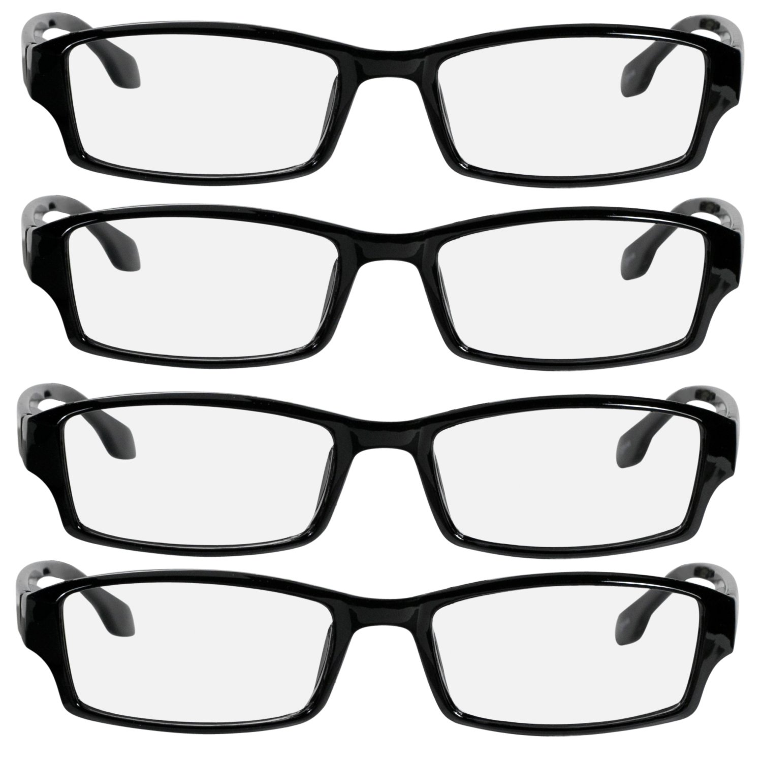 7d9ca91a8c69 Amazon.com: Reading Glasses 1.00 _ Best 4 Pack for Men and Women _ Have a  Stylish Look and Crystal Clear Vision When You Need It! _ Comfort Spring  Arms ...