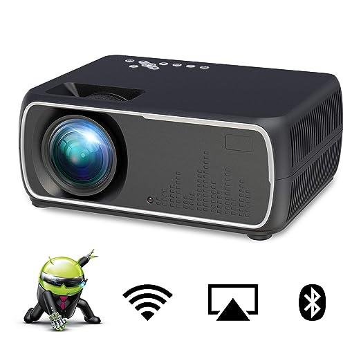 MBEN Proyector WiFi LED portátil, proyector de Cine en casa con ...