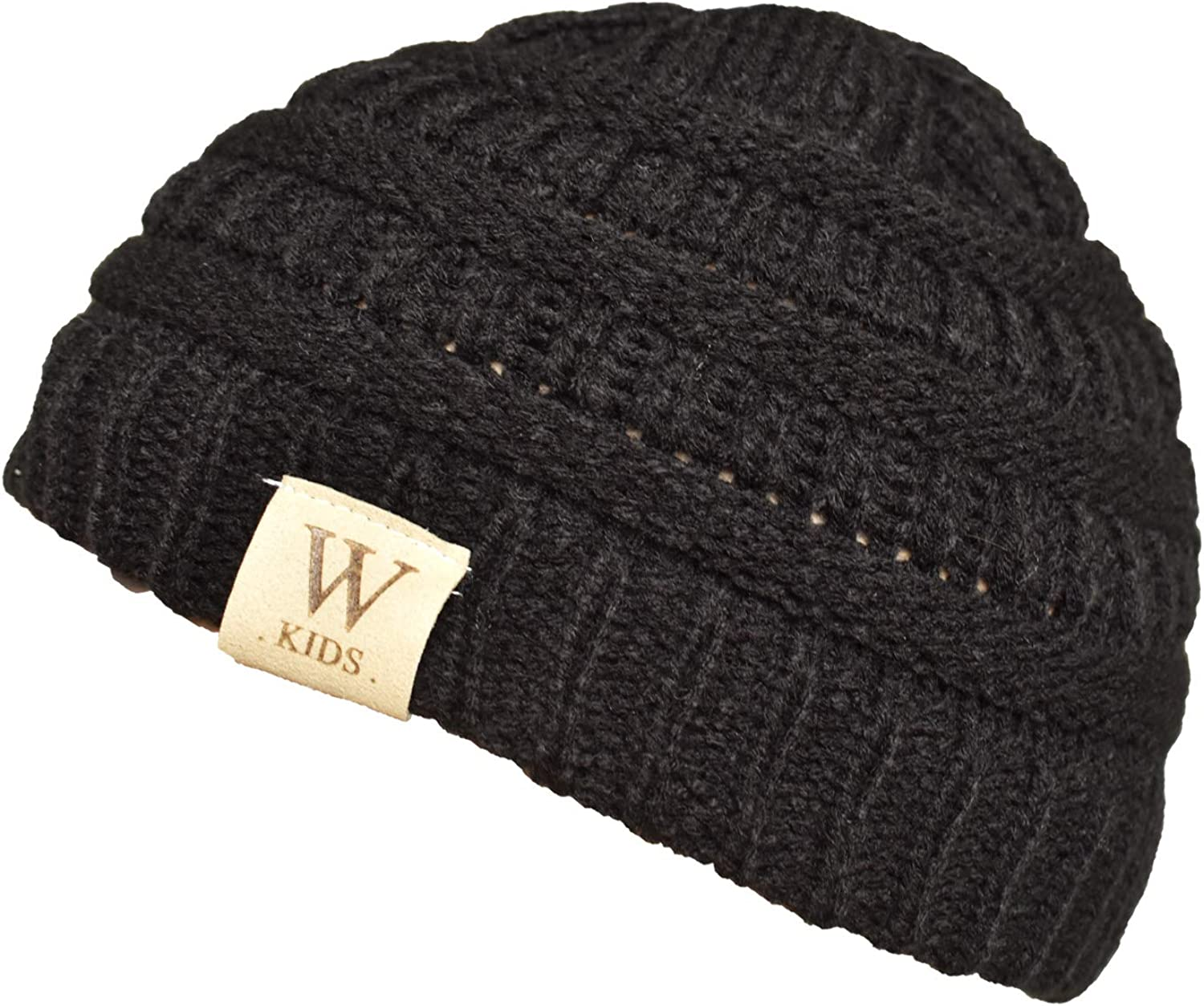 WONBURY Kids Winter Beanie Hats Caps for Children Soft Warm Cute Chunky Thick Stretchy Knitted