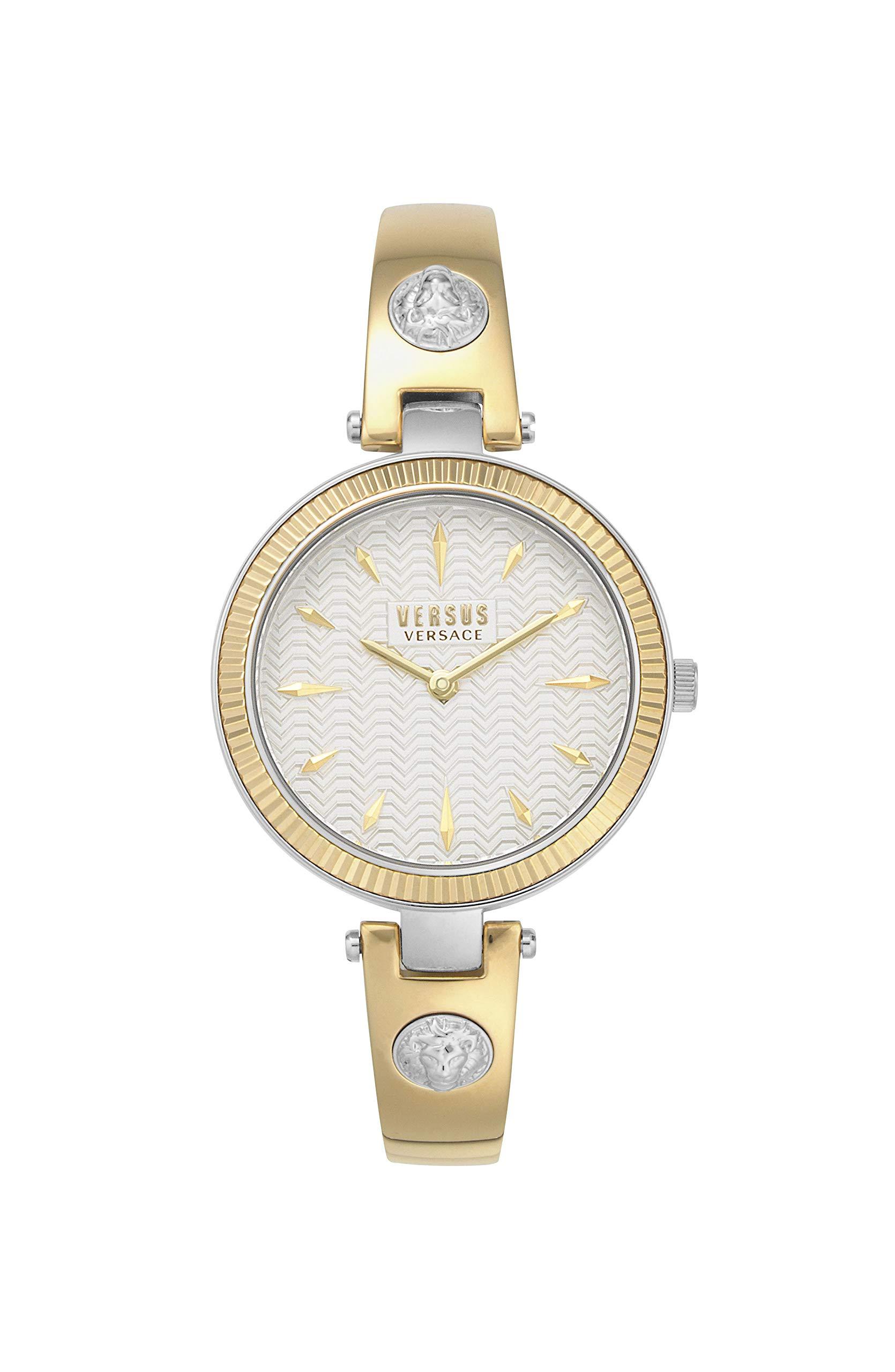Versus by Versace Women's Brigitte Quartz Gold-Plated-Stainless-Steel Strap, 11.5 Casual Watch (Model: VSPEP0219) by Versus by Versace
